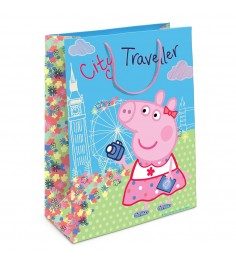 Пакет подарочный Пеппа на каникулах Свинка Пеппа 350х250х90 Росмэн 31019