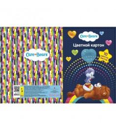 Цветной картон care bears 10 листов Росмэн 31753