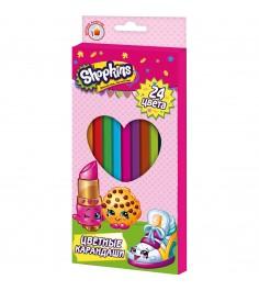 Цветные карандаши шопкинс 24 шт Росмэн 31812