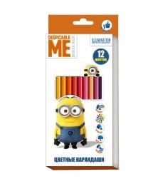 Цветные карандаши миньоны 12 цветов Росмэн 31929