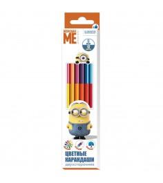 Двусторонние цветные карандаши миньоны 12 цветов Росмэн 31935