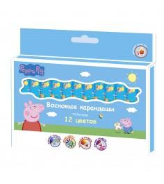 Восковые карандаши свинка пеппа 12 цветов Росмэн 32018