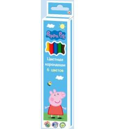 Цветные карандаши 6 цветов тм свинка пеппа Росмэн 32063