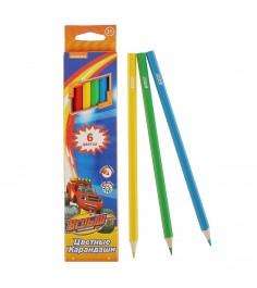 Цветные карандаши вспыш и чудо машинки 6 шт Росмэн 32314