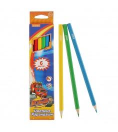 Цветные карандаши вспыш и чудо машинки 6 цветов Росмэн 32318
