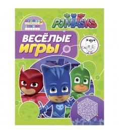 Книга герои в масках веселые игры салатовая Росмэн 32722