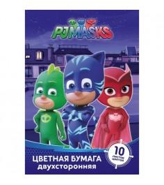 Цветная бумага герои в масках 10 листов Росмэн 32768