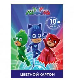 Цветной картон герои в масках 10 цветов Росмэн 32770