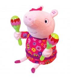 Мягкая интерактивная игрушка пеппа с маракасами тм peppa Росмэн 33757