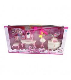 Набор игрушечной мебели туалетный столик с аксессуарами Shantou Gepai 989-5