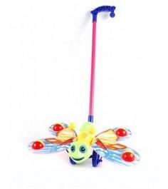 Каталка на ручке бабочка с шариками Shantou Gepai W881-5