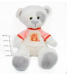 Медвежонок тишка 45 см СмолТойс 1677/БЕЛ