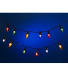 Новогодняя электрическая гирлянда шишки 50 лампочек 5.5 м Snowmen Е2085