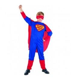 Карнавальный костюм супермен с плащом 4 6 лет Snowmen Е40197-1