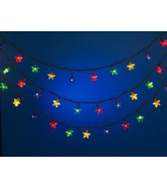 Новогодняя электрогирлянда из 100 фигурных ламп звезда 5.3 м Snowmen Е50740