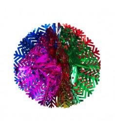 Новогоднее украшение гирлянда шар снежинка Snowmen Е50939