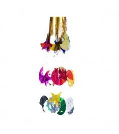 Новогодняя гирлянда люстра разноцветное небо Snowmen Е50944
