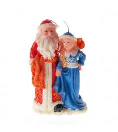Новогодняя свеча дед мороз и снегурочка 18 см Snowmen Е51219
