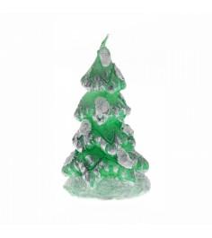 Новогодняя свеча елочка в снегу Snowmen Е60469