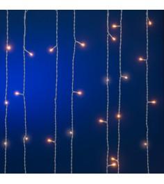 Гирлянда световой занавес белое свечение теплое 272 лампочки Snowmen Е70287