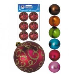 Новогодний набор из 6 елочных шаров завитки 7 см Snowmen Е80200