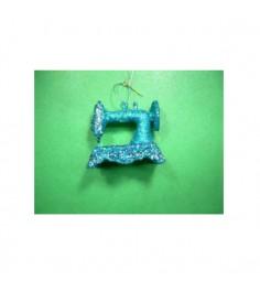 Новогодняя подвеска швейная машинка 8.8 см Snowmen Е80876