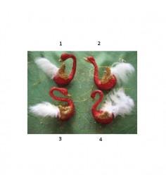 Новогодняя подвеска лебедь с пухом 10 см Snowmen Е80884