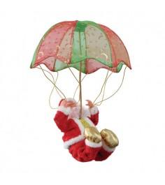 Музыкальная игрушка дед мороз на парашюте движение 28 см Snowmen Е80967