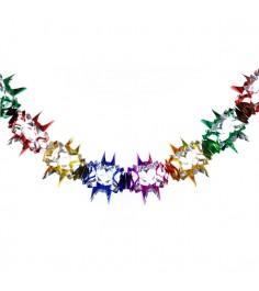 Новогоднее украшение гирлянда цветок 2.5 м Snowmen Е92130