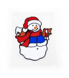 Новогодняя аппликация снеговик 17 см Snowmen Е92281