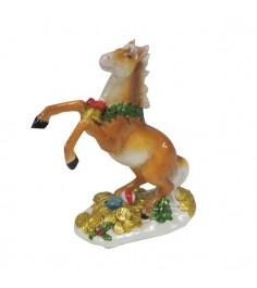 Керамическая новогодняя фигурка лошадь Snowmen Е94030