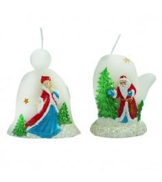 Новогодняя фигурная свеча 6.5 см Snowmen Е94577