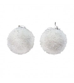 Елочный шар снежок с пайетками 9 см Snowmen Е94713