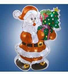 Гирлянда панно дед мороз с елкой 30 ламп 46 х 35 см Snowmen Е96356