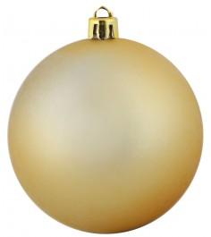 Большая новогодняя елочная игрушка золотистый матовый шар 25 см Snowmen ЕК0071