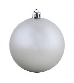 Набор из 4 х елочных игрушек матовый шар серебристый 10 см Snowmen ЕК0329