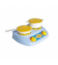Игра Спектр Детский кухонный набор Плита газовая кастрюля сковорода У528