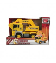 Машина пласт грузовик экскватор горстрой 1:20 Технопарк...