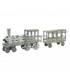 Металлический конструктор поезд 860 дет Тридевятое царство 948