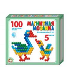 Магнитная шестигранная мозаика 100 элементов 5 цветов Тридевятое царство 961...