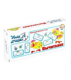 Настольная игра умное домино вычитание Тридевятое царство 653...
