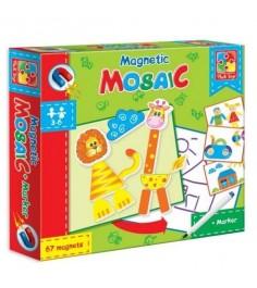 Магнитная мозаика с маркером львенок и жираф 67 Vladi Toys VT3701-02