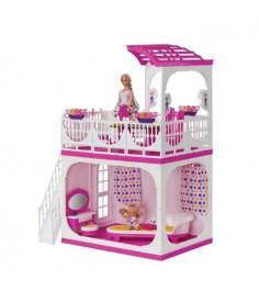 Дом для кукол зефир с верандой Огонек 1405