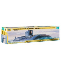 Сборная модель подводной лодки борей владимир мономах Zvezda 9058з